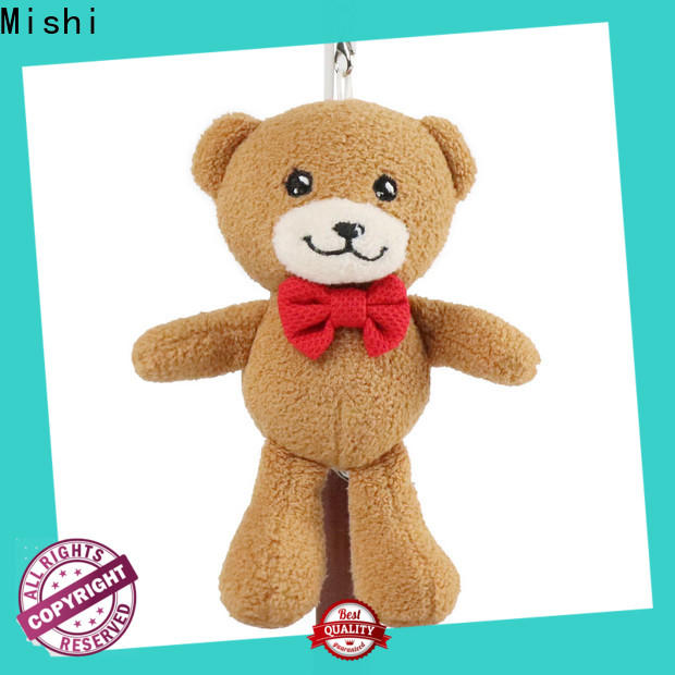 Mishi teddy bear plush key chain supply for gifts