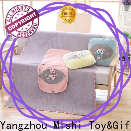 Mishi personalized plush blanket company for living room