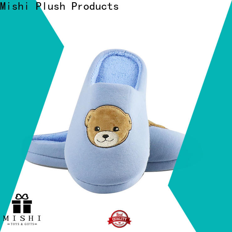 Mishi latest custom plush slipper manufacturers for home