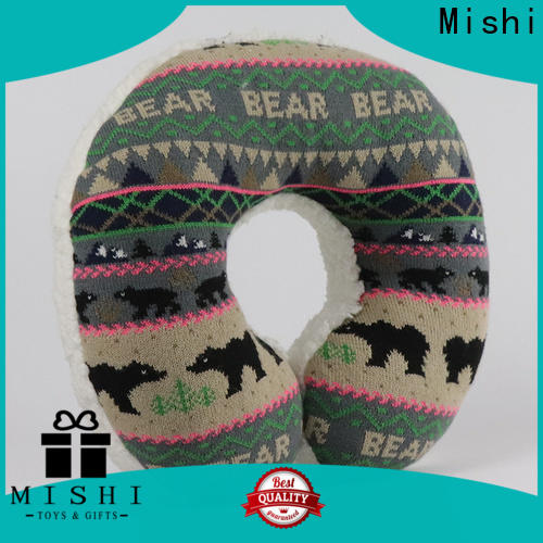 Mishi fast delivery fuzzy neck pillow with custom printing for business