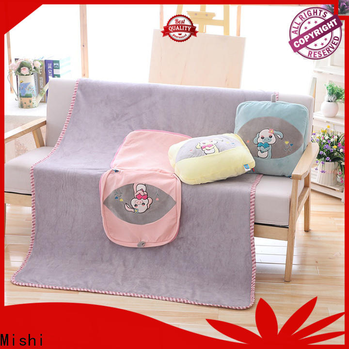 Mishi personalized plush blanket supply for living room