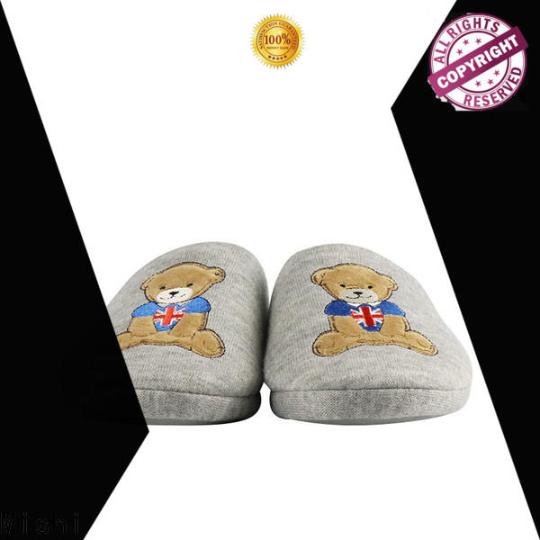 wholesale soft plush slippers with logo for business