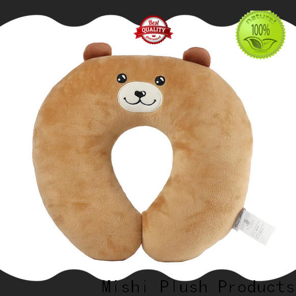 high-quality plush neck pillow with custom printing for sleeping