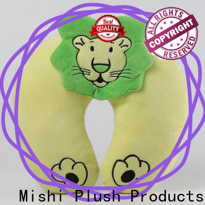 Mishi plush pillow with logo for gifts