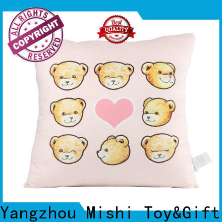 Mishi high-quality plush cushion covers supply for presents