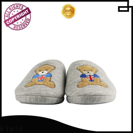 top soft plush slippers with logo for gifts