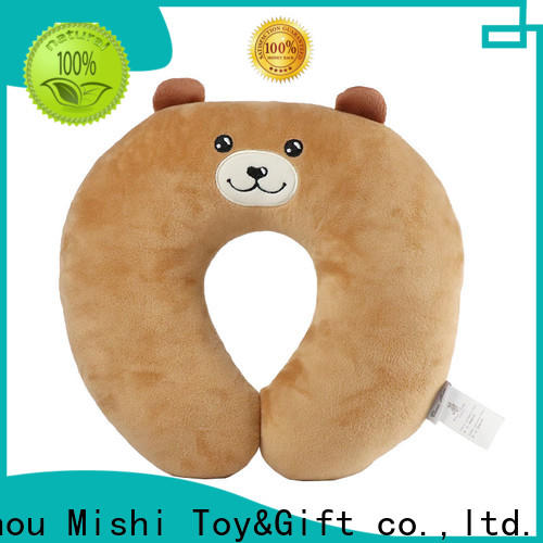 Mishi fluffy neck pillow with logo for business