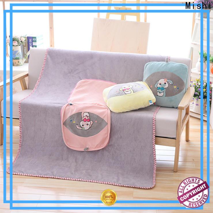 Mishi plush cushion covers with custom logo for home