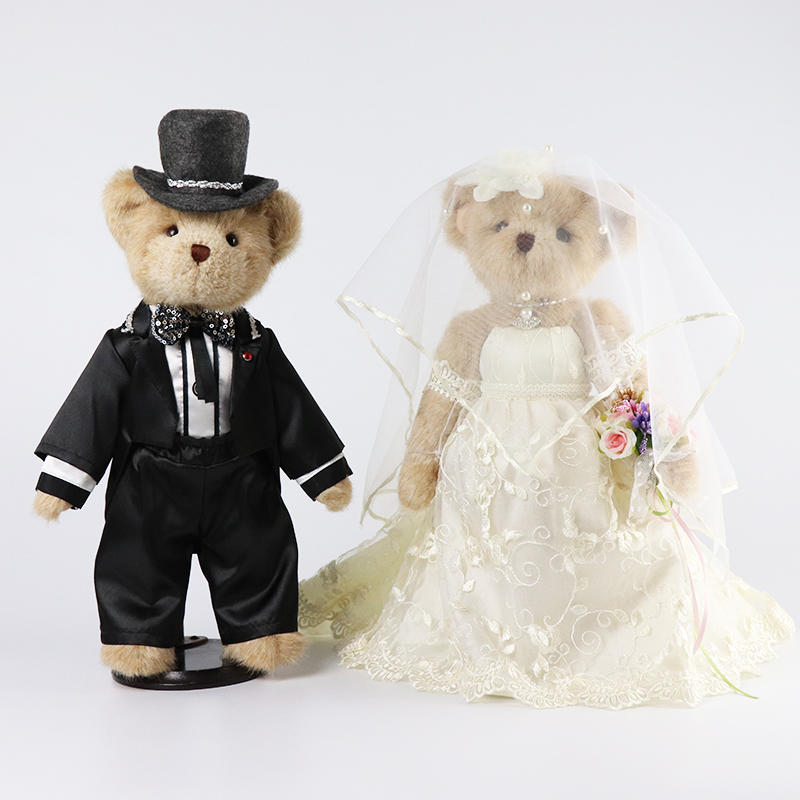 Teddy bear Stuffed Animals Doll Plush Toy Gifts for Valentine's Gift Wedding