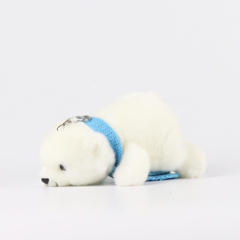 Custom Quality Handmade Wool Felt fabric stuffed Animals mini polar bear Toys gifts Wholesale