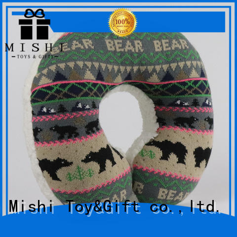 Mishi new plush neck pillow with custom printing for business