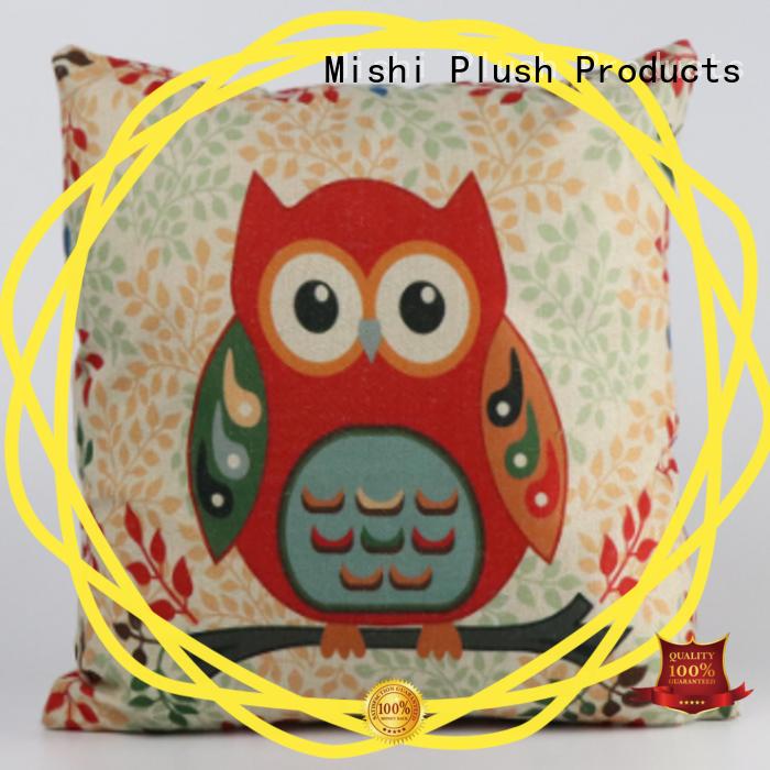 Mishi custom plush cushion company for gifts