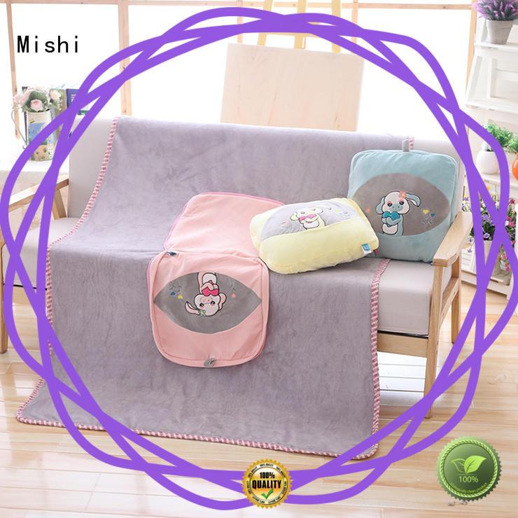 Mishi plush cushions with custom logo for prasents