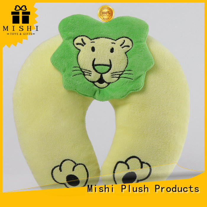 Mishi plush pillow with logo for sleeping