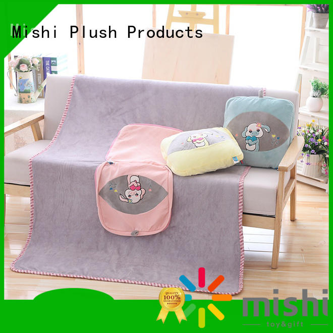 Mishi personalized plush blanket with logo for gifts