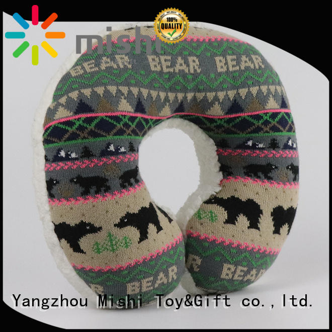Mishi plush neck pillow factory for business